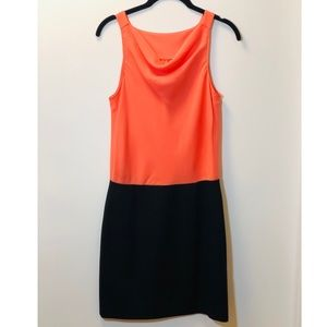 Tibi 4C Black & Orange Dress